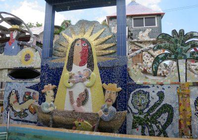 Mosaik des bekannten kubanischen Künstlers José Fuster